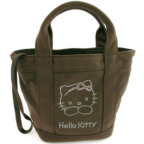 Petit sac à main strass taupe Hello Kitty By Camomilla