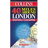 40 Miles Around London (Road Map)by Harper Collins Publishers