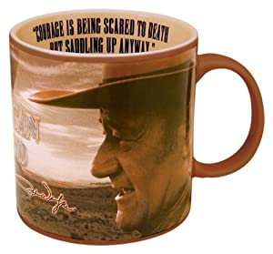Vandor 15063 John Wayne Mug, Courage, Brown, 20-Ounce from Vandor