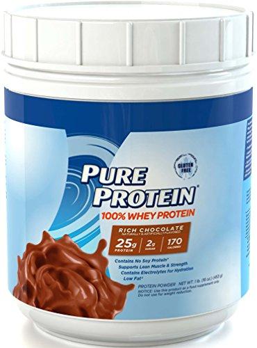 Pure Protein 100% Whey Powder - Rich Chocolate, 1 pound (Chocolate Protein Powder Whey compare prices)