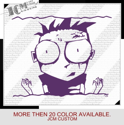 "Johnny The Homicidal Maniac Knives - Vinyl Decal Sticker / 22"" X 17.8"" (20 Purple, Vinyl Type - Removable - Wall)"