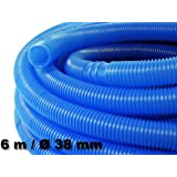 6m - 38mm - Tuyau de piscine flottant sections double manchon 190g/m - Made in Europe