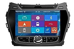 See Crusade Car DVD Player for Hyundai Ix45/ Santa Fe 2013 Support 3g,1080p,iphone 6s/5s,external Mic,usb/sd/gps/fm/am Radio 8 Inch Hd Touch Screen Stereo Navigation System+ Reverse Car Rear Camara + Free Map Details