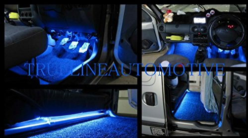 2 Piece Interior Footwell Trunk Light Strips Under Dash Kit (Blue) (05 Silverado Dash Kit compare prices)