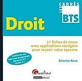 echange, troc Séverine Roux - Droit : 31 fiches de cours avec applications corrigées pour réussir votre épreuve