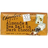 Chocolove Dark Chocolate, Almonds and Sea Salt, 1.3 Ounce (Pack of 12)