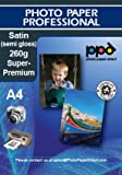 A4 Inkjet Pearl (satin)Photo Paper - Heavy Weight - 260gsm x 100 Sheets