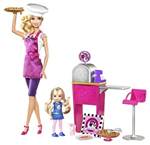 Amazon.com: Barbie I Can Be Pizza Chef Doll and Playset: Toys