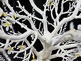 "BalsaCircle 30"" GLITTERED Manzanita Tree with Flowers Garlands - White"