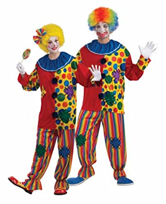 Men's Big Top Clown Costume, Purple/Green, One Size