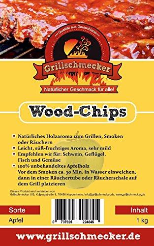 Räucher Chips von Grillschmecker 1kg Apfel