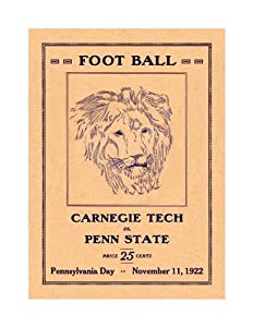 1922 Penn State Nittany Lions vs. Carnegie Tech 36 x 48 Canvas Historic Football... by Sports+Memorabilia