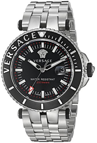 Versace-Mens-V-Race-Swiss-Quartz-Stainless-Steel-Casual-Watch-ColorSilver-Toned-Model-VAK030016