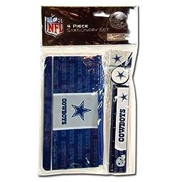 NFL Dallas Cowboys 4pk Study kit on Blister Card - Pencil Pouch, Ruler, Pencil Sharpener, Eraser