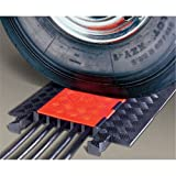 """Guard Dog GD5X125-O/B Polyurethane Heavy Duty 5 Channel Cable Protector with Connector, Orange Lid with Black Ramp, 36"""" Length, 19.75"""" Width, 1.87"""" Height"""