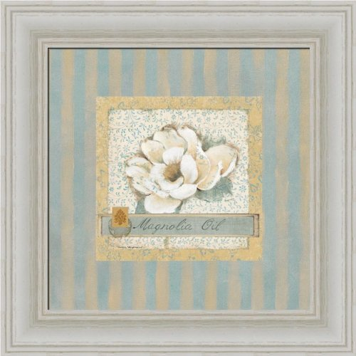 Magnolia Oil By Carol Robinson Cottage Chic Bathroom Decor Art Print Framed Picture front-1013084