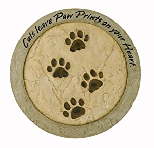 """Russ Berrie E73948 """"Cats Leave Paw Prints on your Heart"""" Stepping Stone"""