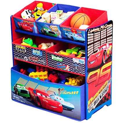 Disney Pixar Cars Multi Bin Toy Box Organizer