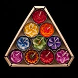 Blooming Tea Lights Multicoloured Scented
