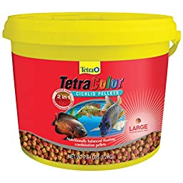 Tetra 77269 TetraColor 2-in-1 Large Cichlid Pellets, 2.64-Pound
