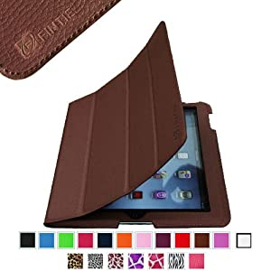 Fintie iPad Folio Leather Case Cover for iPad 4th Generation With Retina Display, the New iPad 3 & iPad 2 (Built-in magnet for sleep / wake feature) - Brown