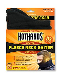 HotHands Heated Fleece Neck Gaiter (Black)