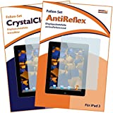 2x mumbi Displayschutzfolie für das iPad 4 / iPad 3 / iPad 2 - (1x antireflektierend + 1x kristallklar)