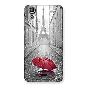 Special Tower Red Umbrella Multicolor Back Case Cover for Micromax Canvas Selfie Lens Q345