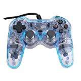 Glow Controller FIGHT LIGHT in BLUE, for PS2by 2-Tech