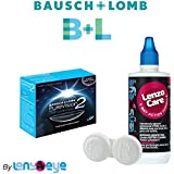 Bausch & Lomb Purevision 2 HD Zeropower Monthly Contact Lens (6 Lens Pack) With Free Lens Care Kit By Lens4Eye