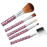 Ostart 5 Pcs Cosmetic Makeup Tool Brush Kit Travel Set - Pink