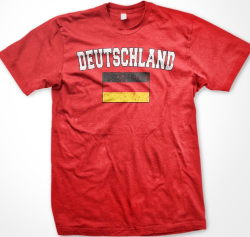 Deutschland Flag International Soccer T-shirt, Germany Soccer Mens T-shirt