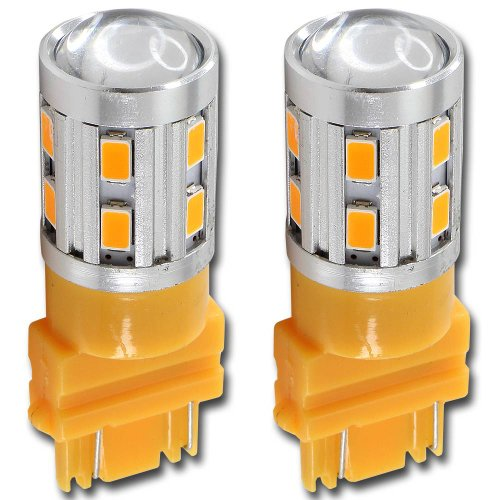3157 High Power 5630 Chip+Cree Led Amber Yellow Turn Signal Brake Tail Lights Bulbs