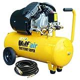 Wolf Cheyenne V-Twin 50 Litre, 3HP, 14CFM, 230v, MWP 150psi, 10BAR Air Compressor + 10 Metre Heavy Duty Rubber