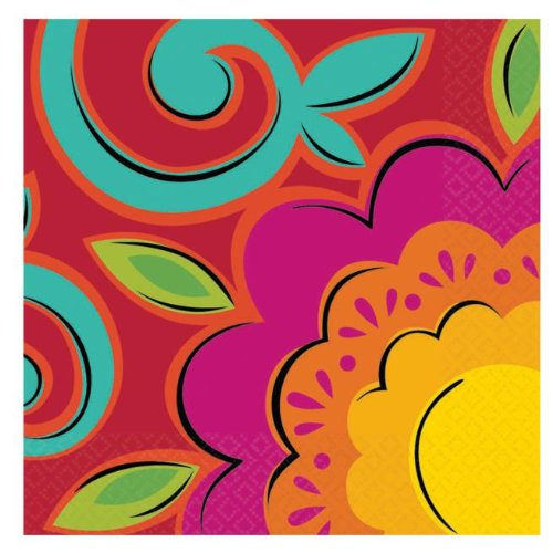 Caliente Flowers Beverage Napkins
