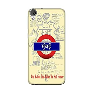 Wrapit Cities Mumbai Hard Back Case Cover For HTC Desire 820
