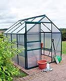 Kingfisher Premium 6' x 8' Green Aluminium Greenhouse