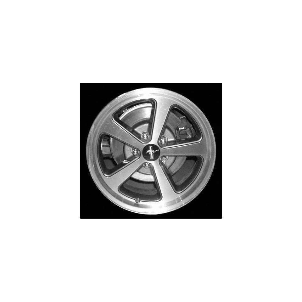 03 04 FORD MUSTANG ALLOY WHEEL (PASSENGER SIDE) = (DRIVER RIM 17 INCH, Diameter Width 8 (5 SPOKE) MACHINED FINISH, CHARCOAL POCKETS 1 Piece Only (2003 03 2004 04) ALY03523U30N