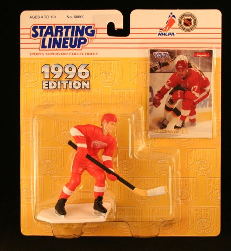 PAUL COFFEY / DETROIT RED WINGS 1996 NHL Starting Lineup Action Figure & Exclusive Collector Skybox Trading Card