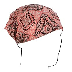 ZANheadgear Paisley Design Head Wrap (Pink, One Size)