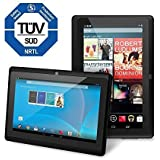 Chromo Inc Tablet - 7 inch HD touchscreen Android Tablet - Updated with TUV quality certification - Black
