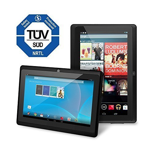 Chromo Inc Tablet - 7 inch HD touchscreen Android Tablet - Updated with TUV grade certification - Black