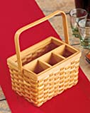 Entertaining Silverware Serving Caddy - Holds Napkins & Utensils with Handle