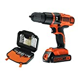 Black   Decker 18V Lithium Ion 2 Gear Hammer Drill and 30 piece accessory Set Bundle