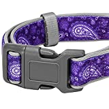 Blueberry-Pet-Soft-Comfortable-Vintage-Paisley-Flower-Print-Inspired-Ultimate-Adjustable-Neoprene-Padded-Dog-Collar-Matching-Leash-Harness-Available-Separately