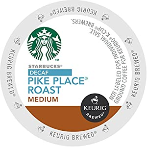 Starbucks Coffee, Decaf Pike Place Roast K Cup Portion Pack for Keurig Brewers, 24 Count