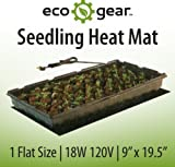 "EcoGear Seedling Heat Mat 1 Tray 9""x20"""