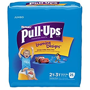 Pull-Ups Training Pants for Boys, Size 2T-3T, 25 Count