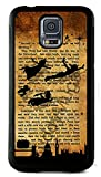 Samsung Galaxy S5 Rubber Case Cover Peter Pan 1911 novel Quote Tinkerbell Neverland Phone Fairy Princess