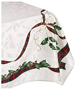 Lenox holiday nouveau tablecloth 60 by 120 for 120 table runner christmas